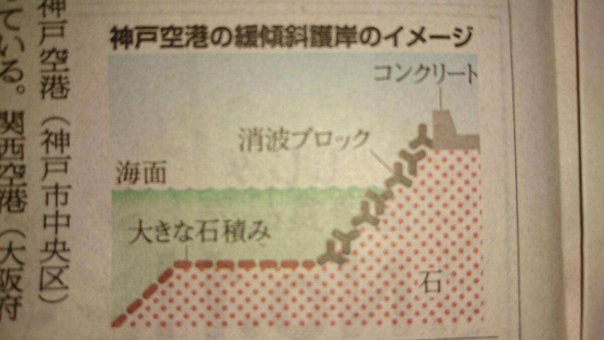 神戸空港は緩傾斜護岸に魚根付くよい釣り場